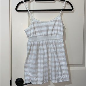 Aeropostale white cream striped tank top cami